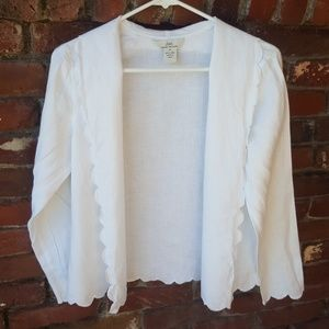White Brooks Brothers Linen Shirt Size Small